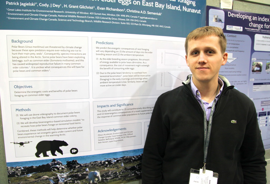 Patrick and his poster at Arctic Change 2017